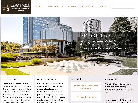 Hamilton Duncan Armstrong &amp; Stewart Law Corp (604-607-4094) - Website thumbnail - http://www.hdas.com