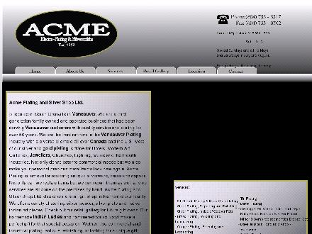 Acme Plating & Silver Shop Ltd (604-733-3317) - Website thumbnail - http://www.acmeplatingandsilvershop.com