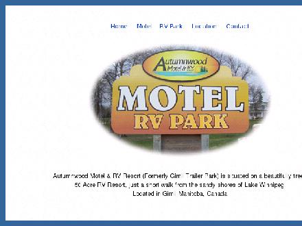 Autumnwood RV Resort (204-642-7226) - Website thumbnail - http://www.autumnwoodresort.com