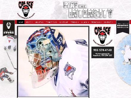 On Ice Goaltending School (905-574-4148) - Onglet de site Web - http://www.onicegoaltendingschool.com