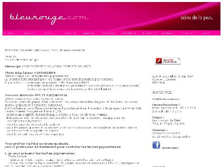 Institut Bleu Rouge (418-525-7922) - Onglet de site Web - http://WWW.BLEUROUGE.COM