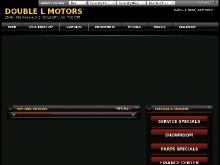 Double L Motors (403-262-9683) - Website thumbnail - http://www.doublelmotorsltd.com