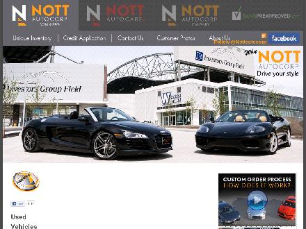 Nott Autocorp Ltd (204-889-6688) - Onglet de site Web - http://www.nottautocorp.com