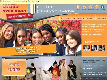 Coll&egrave;ge Jeanne Normandin (514-381-3945) - Website thumbnail - http://www.jeanne-normandin.qc.ca/