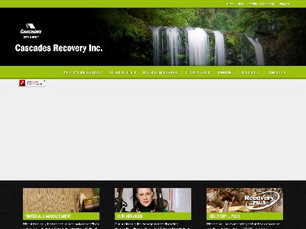 Cascades Recovery Inc (604-589-4385) - Onglet de site Web - http://www.recoverycascades.com