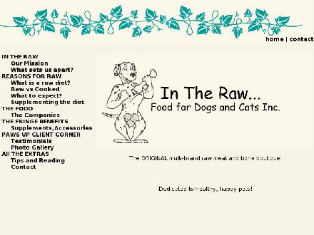 In The Raw Food For Dogs & Cats Inc (604-904-3647) - Website thumbnail - http://www.intherawpetfood.com
