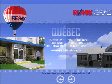 Remax Capitale (418-627-3120) - Onglet de site Web - http://www.remax-capitale.qc.ca