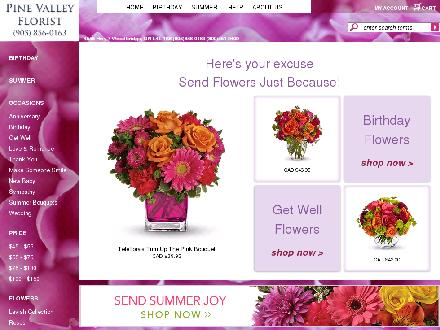 Pine Valley Florist (905-856-0163) - Website thumbnail - http://www.pinevalleyflorist.com