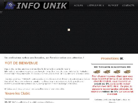 Info Unik (418-681-9434) - Onglet de site Web - http://infounik.com