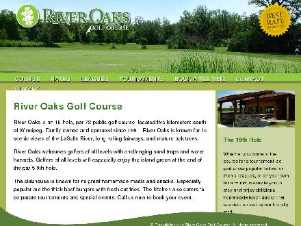 River Oaks Golf Course (204-261-4653) - Onglet de site Web - http://www.riveroaksgolf.ca