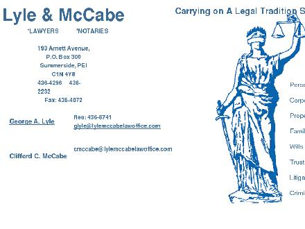 Lyle &amp; McCabe (902-436-4296) - Website thumbnail - http://www.lylemccabelawoffice.com