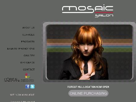 Mosaic Hair Group (416-787-8899) - Onglet de site Web - http://www.mosaichairgroup.com