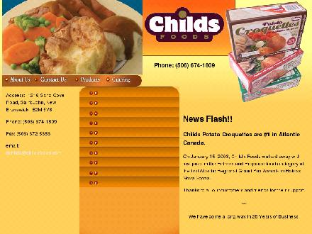 Childs Foods & Catering Service (506-674-1809) - Website thumbnail - http://www.childsfoods.com