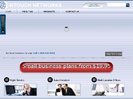 Intouch Networks Business Phone Services (204-480-8000) - Onglet de site Web - http://www.intouchnetworks.ca