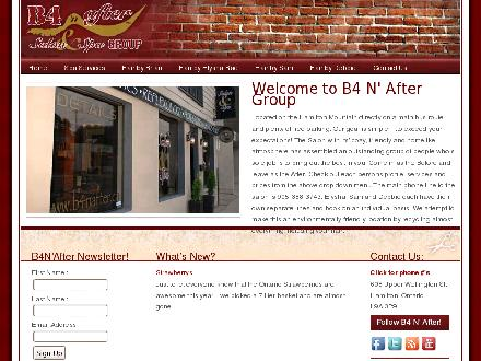 B4 N After Inc (905-388-3743) - Onglet de site Web - http://www.b4nafter.ca/