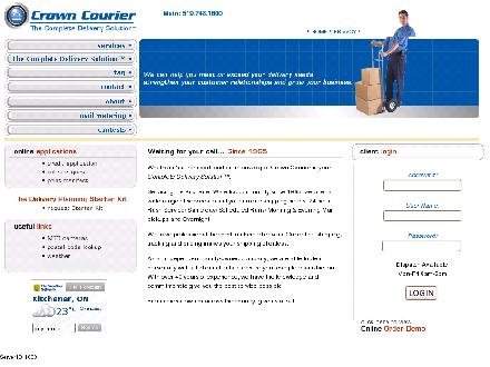 Crown Courier (226-214-3297) - Onglet de site Web - http://www.crowncourier.com