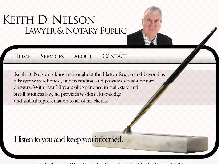 Nelson Keith D (289-813-0912) - Website thumbnail - http://www.nelsonlawyer.com