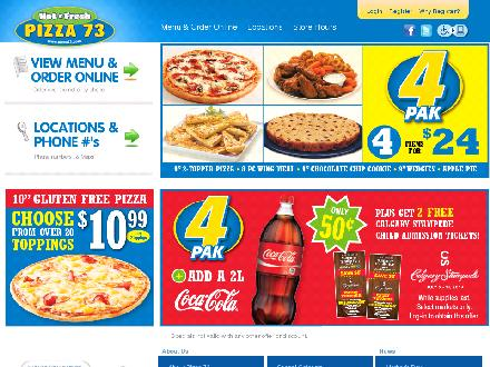 Pizza 73 (780-831-7373) - Onglet de site Web - http://www.pizza73.com