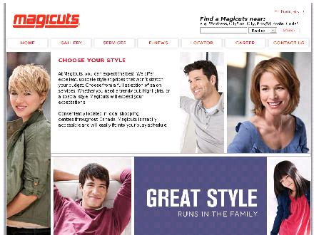 Magicuts (204-632-9250) - Onglet de site Web - http://www.magicutssalons.com