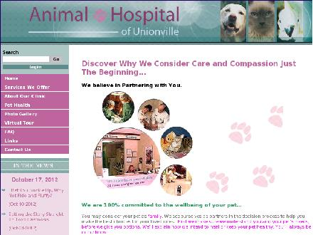 Animal Hospital Of Unionville (905-477-2323) - Website thumbnail - http://www.unionvet.com