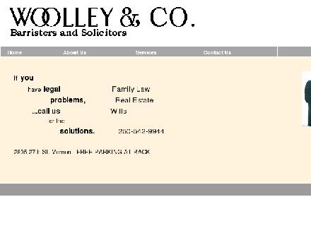 Woolley & Co (250-542-9944) - Onglet de site Web - http://www.woolleylaw.ca