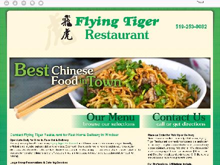 Flying Tiger Restaurant (519-253-8082) - Website thumbnail - http://flyingtigerrestaurant.com/