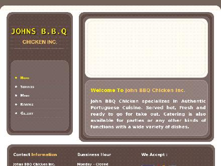 John BBQ Chicken Inc (905-829-8395) - Website thumbnail - http://www.JohnBBQChicken.ca