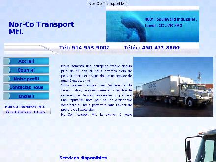 Nor-Co Transport Mtl (438-792-6102) - Onglet de site Web - http://www.norcotransportmtl.com