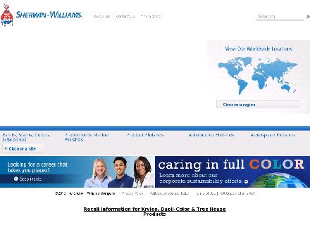 Sherwin-Williams Co (705-735-0029) - Website thumbnail - http://www.sherwin-williams.com/