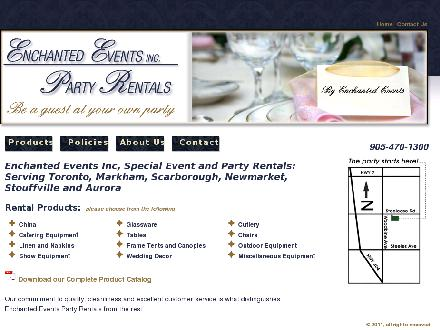Enchanted Events Inc. (905-470-1300) - Onglet de site Web - http://www.enchantedevents.biz
