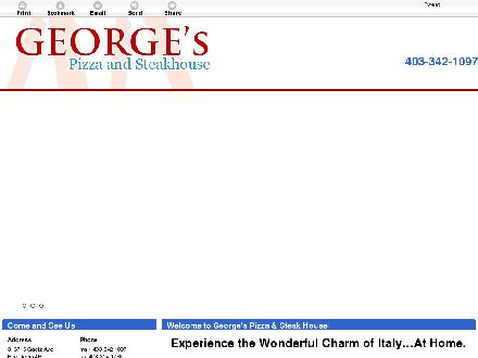 George's Pizza & Steak House (403-342-1097) - Website thumbnail - http://georgespizzasteakhouse.ca
