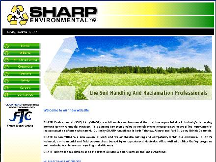 Sharp Environmental (250-263-9155) - Onglet de site Web - http://www.sharp-environmental.com