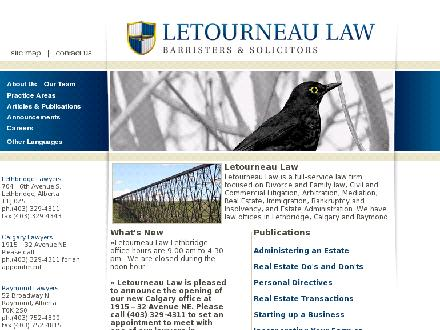 Letourneau Law (403-329-4311) - Onglet de site Web - http://www.lelaw.ca