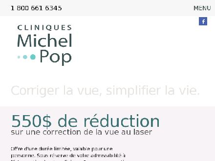 Clinique Michel Pop (1-800-661-6345) - Onglet de site Web - http://www.cmpop.com