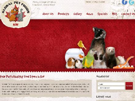 Global Pet Foods - Website thumbnail - http://www.globalpetfoodskw.ca