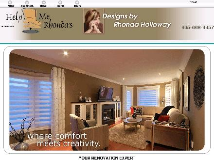 Help Me Rhonda's Interiors (905-668-9957) - Website thumbnail - http://helpmerhondas.com/