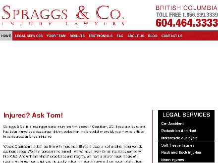 Spraggs & Co Law Corp (604-464-3333) - Website thumbnail - http://www.spraggslaw.ca