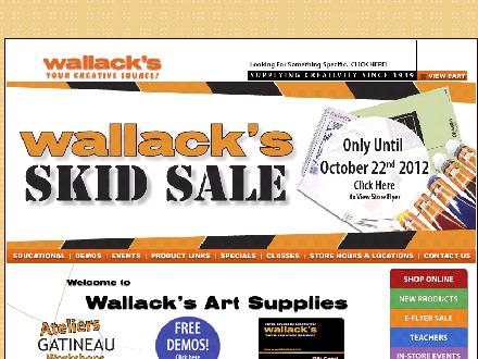 Wallack's Wholesale Framing (613-594-9528) - Website thumbnail - http://www.wallacks.com