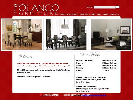 Polanco Furniture (613-604-0344) - Onglet de site Web - http://www.polancofurniture.com