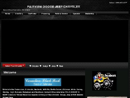 Fairview Chrysler Jeep (1-866-857-6070) - Onglet de site Web - http://www.fairviewchrysler.ca