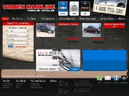 Virden Mainline Motor Products Limited (1-888-484-5973) - Website thumbnail - http://www.virdenmainline.com