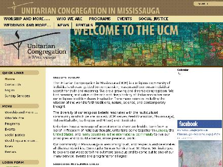 Unitarian Congregation In Mississauga (905-278-5622) - Website thumbnail - http://www.uucm.ca