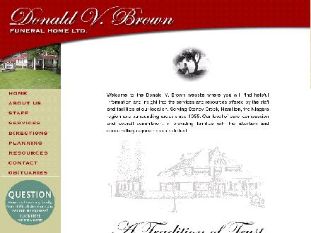 Donald V Brown Funeral Home Ltd (905-662-2948) - Onglet de site Web - http://www.donaldvbrown.ca