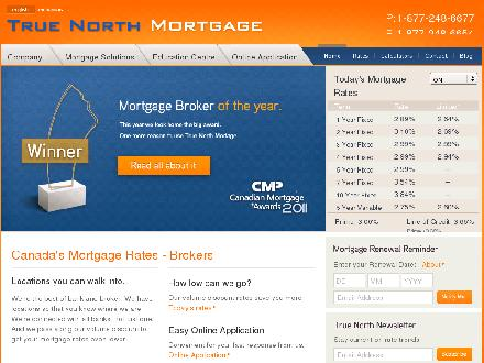 True North Mortgage (403-766-9117) - Onglet de site Web - http://www.truenorthmortgage.ca