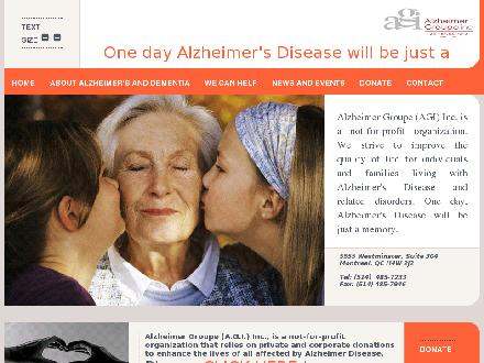Alzheimer Groupe (A G I) Inc (514-485-7233) - Website thumbnail - http://www.agiteam.org