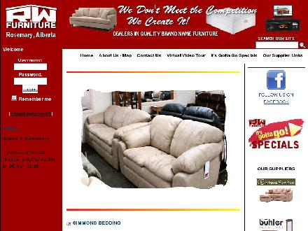 R &amp; W Furniture (403-378-4429) - Onglet de site Web - http://www.rwfurniture.com
