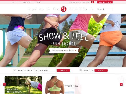 Lululemon.com - Onglet de site Web - http://www.lululemon.com