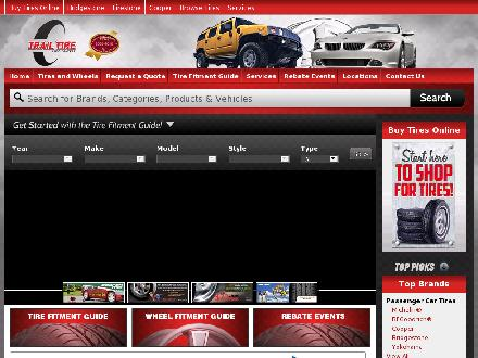Trail Tire Auto Centers (780-412-1690) - Website thumbnail - http://www.trailtire.com