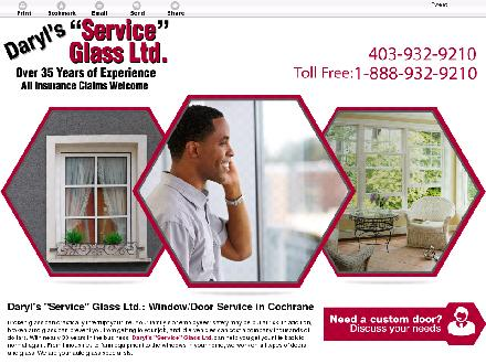 Daryl's Service Glass (403-932-9210) - Website thumbnail - http://darylsserviceglass.net
