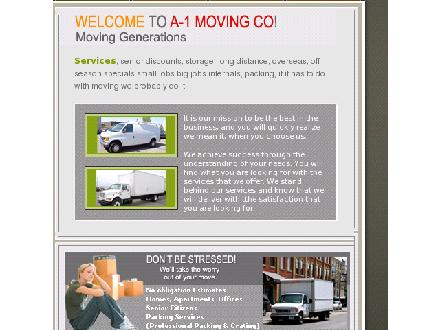 A-1 Moving Co (905-684-3995) - Website thumbnail - http://www.a-1movinggenerations.ca